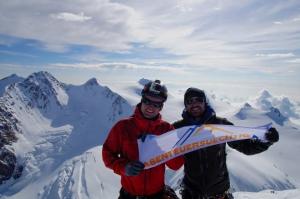 4527m hoch auf dem Gipfel des Liskamm