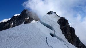 Bergschrund des Rochefortgrats