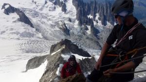 Kurz vorm Gipfel des Dent du Géant
