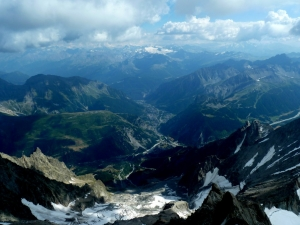 Ausblick nach Chamonix