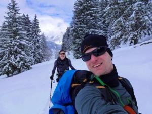 """Dennis und der """"Skitourenlehrer"""" Max"""