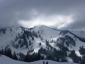Gipfel Großer Ochsenkopf. Über die Schulter links sind wir aufgestiegen