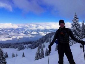 Dennis ist stolz kurz vor dem Gipfel des Rangiswanger Horns