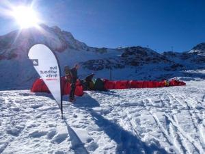 Basecamp im Schnee auf knapp 2800m.