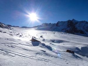 Perfektes Wetter für eine Skitour.