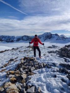 Zwar nicht auf dem Gipfel, aber dennoch eine schöne Aussicht.