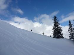 Skitouren am Gipfelhang Großer Ochsenkopf