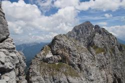 Zwei Kletterer auf dem Gipfel der Zwerchwand