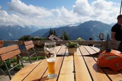 Feierabendbier auf der Tannheimer Hütte