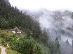 Der Blick rüber zur Tannheimer Hütte