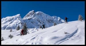 Auf dem Weg zur Schöntalspitze (3008m)
