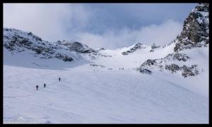 Aufstieg zum Längentaler Weißkogel (3218m)