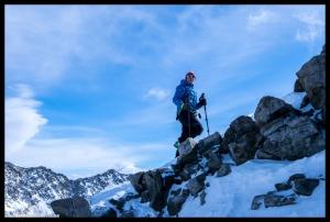 Noch den Gipfelgrat erklimmen und dann sind wir oben