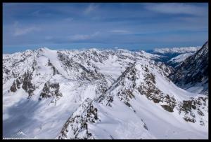 Der höchste ganz hinten links unser nächstes Ziel, der Seeblaskogel (3235m)