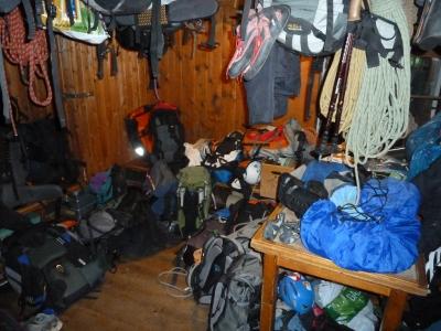 Das Materiallager der Oberreintalhütte