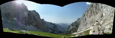 Das Panorama vom Wandfuß aus