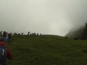 Nebelschwaden auf dem Weg zum Scharnitzjoch