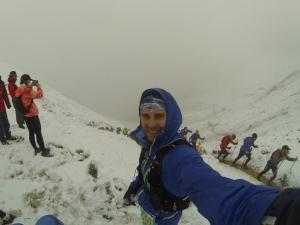 Vor dem Downhill vom Scharnitzjoch