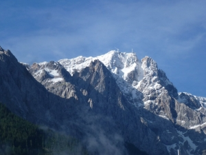 Zugspitze am nächsten Morgen