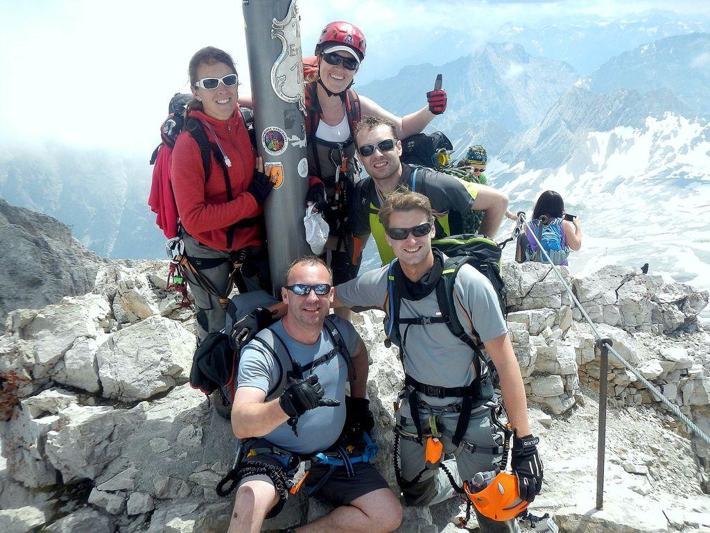Gipfelfoto auf der Zugspitze