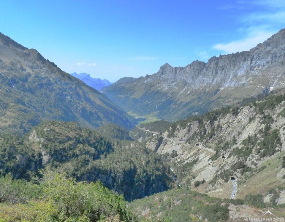 Blick auf den Sustenpass.