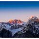 Everest und Lhotse im Abendrot