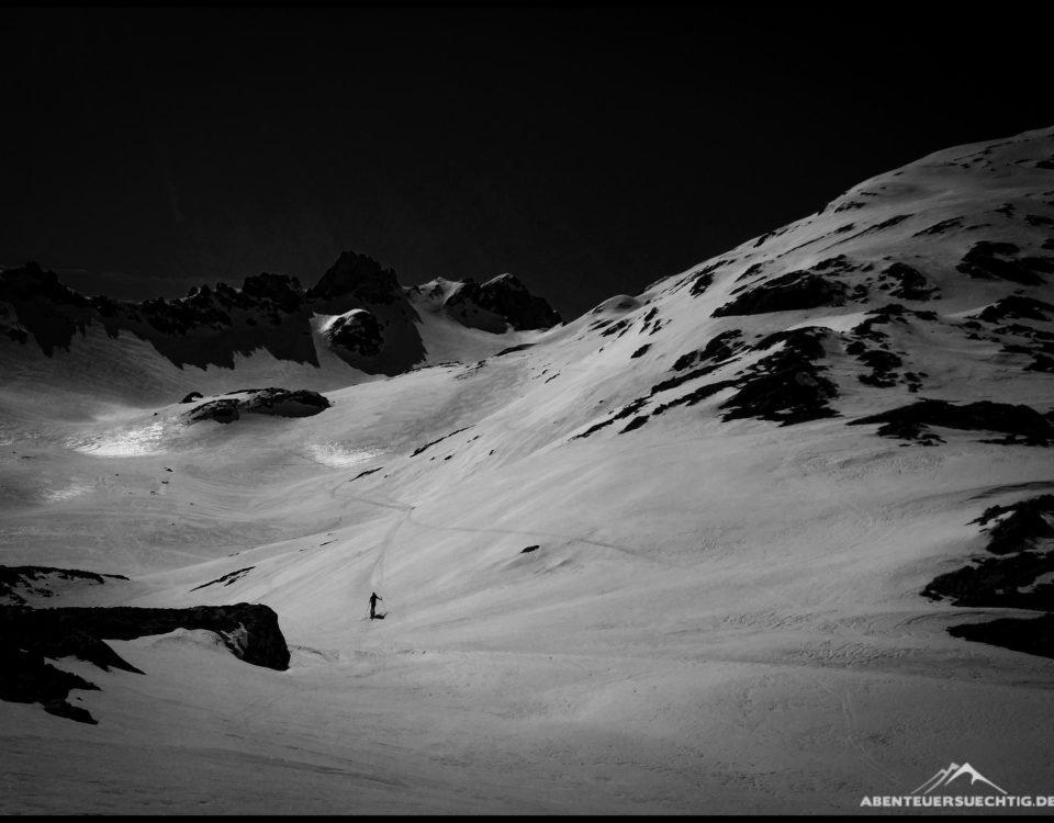 Eine wunderschöne Bergkulisse auf dem Weg Richtung Mehlsack