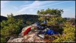 Biwak auf dem Klosterfels in 40 Metern Höhe
