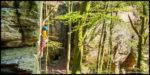 Schönes und hartes Sportklettern am Sandstein in Berdorf / Wanterbach, Luxemburg