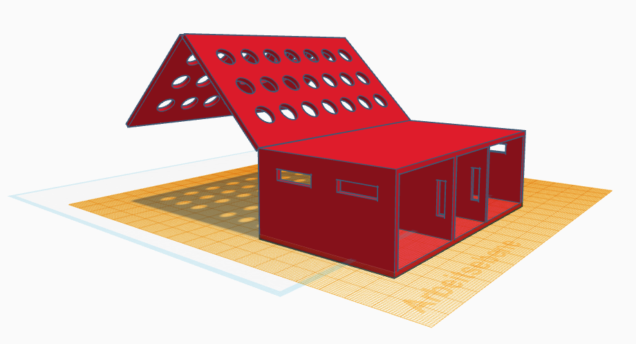 3D-Konstruktion der Campingbox